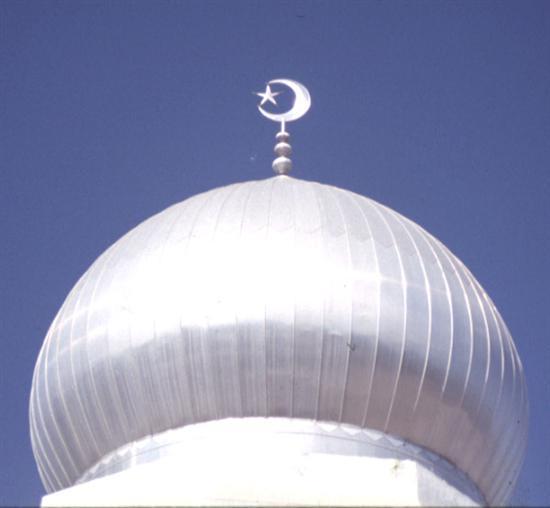 Image result for gambar bulan sabit pada kubah masjid